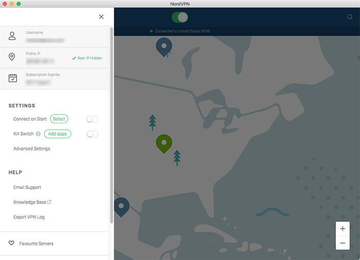 NordVPN software